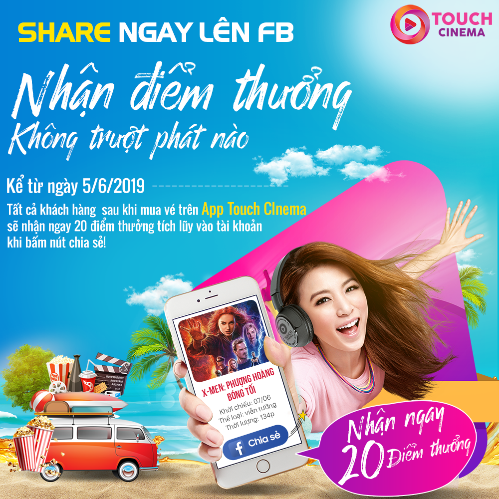 ĐẶT VÉ ONLINE - SHARE NGAY FACEBOOK