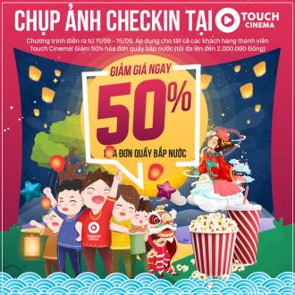 Chụp ảnh checkin tại Touch Cinema nhận ngay ưu đãi 50%