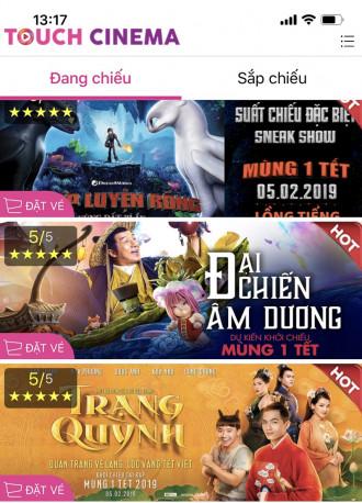 Hướng dẫn đặt vé online tại rạp Touch Cinema